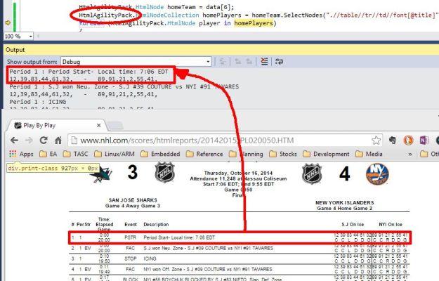 Parsing PbB using HtmlAgilityPack