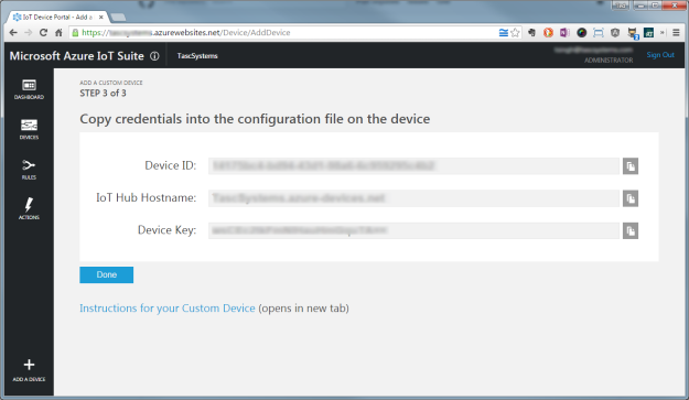 Add Device to Azure IoT Suite
