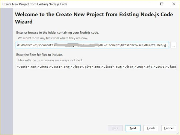 Add Node Source to Visual Studio Project