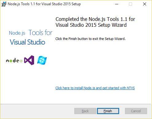Install NTVS 1.1